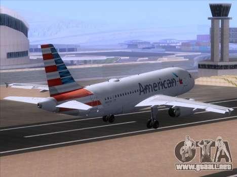 Airbus A319-112 American Airlines para visión interna GTA San Andreas