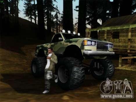 Camuflaje para Monster para GTA San Andreas