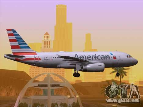 Airbus A319-112 American Airlines para GTA San Andreas interior