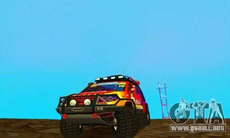 UAZ Patriot juicio para GTA San Andreas vista posterior izquierda
