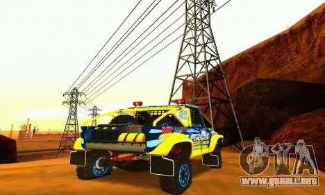 Rally de UAZ 31514 para vista lateral GTA San Andreas
