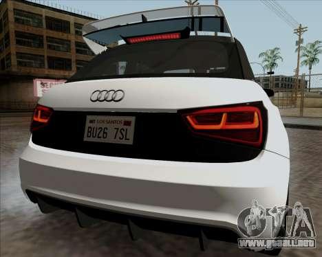 Audi A1 Clubsport Quattro para la visión correcta GTA San Andreas