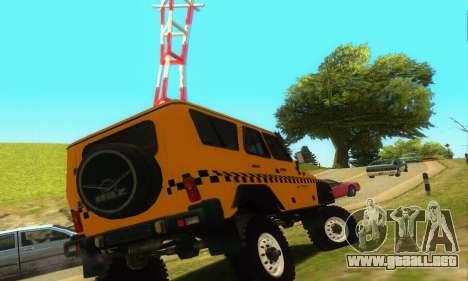 UAZ Hunter Taxi para la visión correcta GTA San Andreas