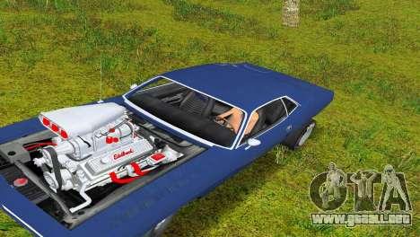 Plymouth Barracuda Supercharger para GTA Vice City left