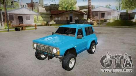 Nissan Patrol Y60 para la vista superior GTA San Andreas