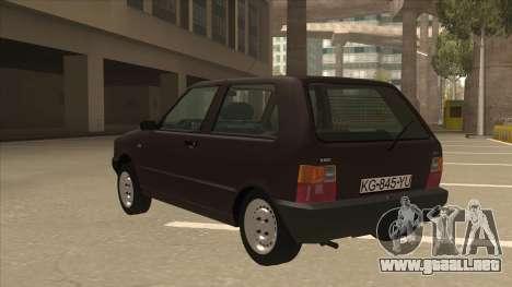 Yugo Uno 45 R 1994 para GTA San Andreas vista hacia atrás