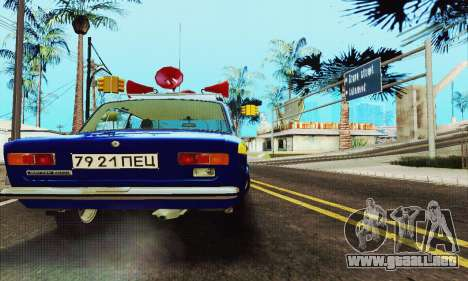 VAZ 21011 Propaganda para GTA San Andreas vista hacia atrás