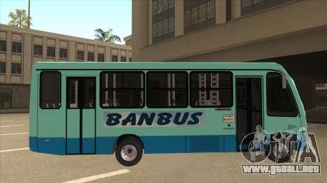 BANBUS Bus Srb. para GTA San Andreas vista posterior izquierda
