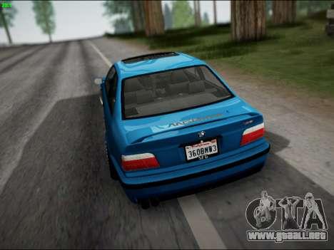 BMW M3 E36 Stance para vista inferior GTA San Andreas