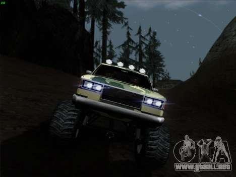 Camuflaje para Monster para vista lateral GTA San Andreas