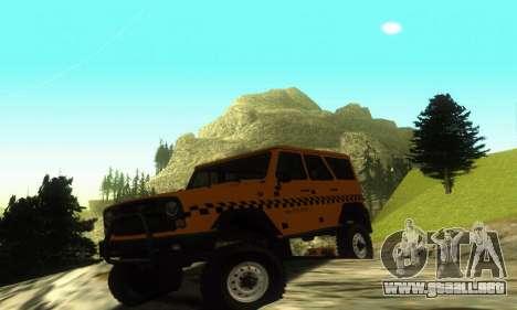 UAZ Hunter Taxi para GTA San Andreas left