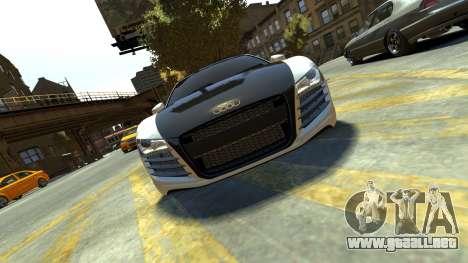 Audi R8 para GTA 4 vista hacia atrás