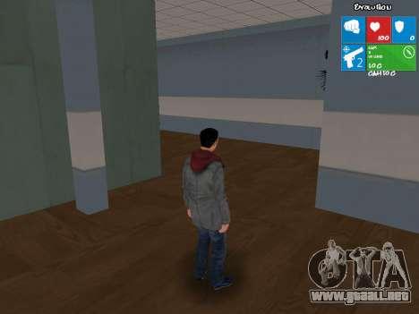 El personaje principal de NFS: carbono para GTA San Andreas segunda pantalla