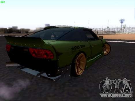 Nissan 180sx Takahiro Kiato para GTA San Andreas vista posterior izquierda