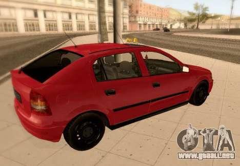Opel Astra G para vista lateral GTA San Andreas