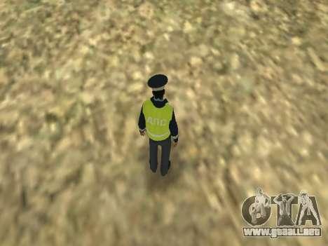El empleado DPS la piel para GTA San Andreas sucesivamente de pantalla