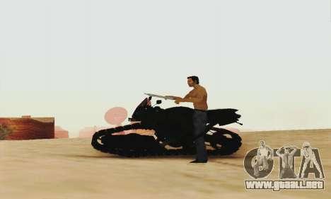 Mercenaries 2 Panzercycle para GTA San Andreas vista posterior izquierda