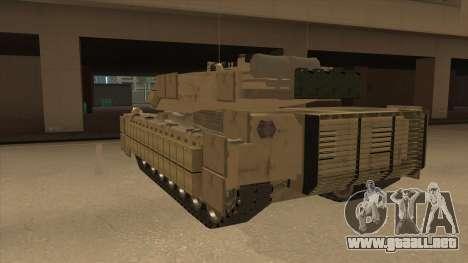 M69A2 Rhino Desierto para GTA San Andreas vista hacia atrás