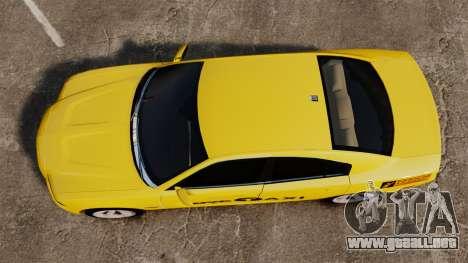 Dodge Charger 2011 Taxi para GTA 4 visión correcta