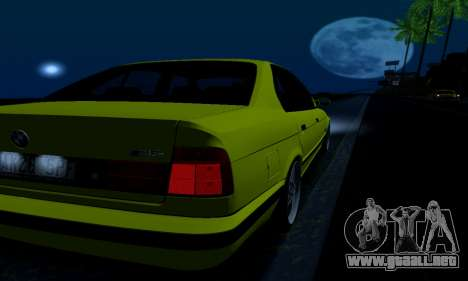 BMW M5 E34 IVLM v2.0.2 para GTA San Andreas interior