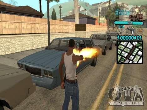 C-HUD by Kerro Diaz [ Aztecas ] para GTA San Andreas segunda pantalla