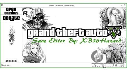 Grand Theft Auto V Save Editor by XB36Hazard para GTA 5