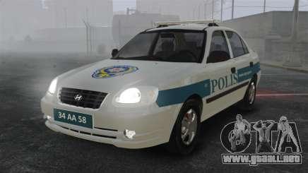 Hyundai Accent Admire Turkish Police [ELS] para GTA 4