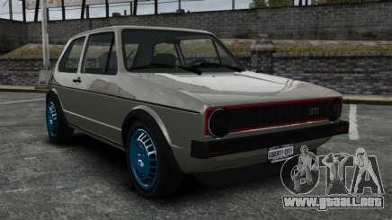Volkswagen Golf MK1 GTI Update v2 para GTA 4