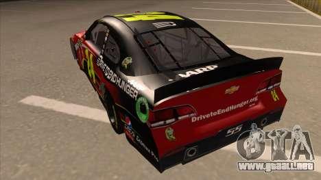 Chevrolet SS NASCAR No. 24 AARP para GTA San Andreas vista hacia atrás