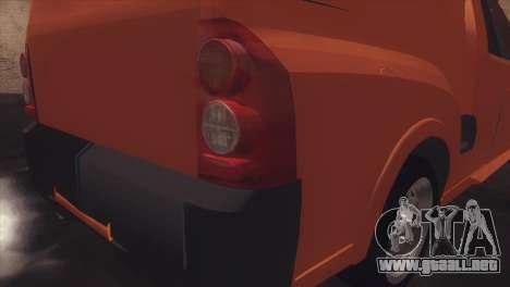 Chevrolet Montana Combo para GTA San Andreas vista hacia atrás