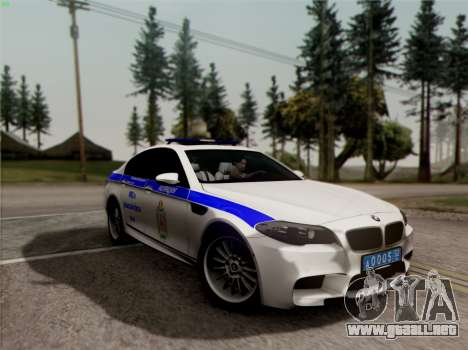 BMW M5 F10 INTERIOR OFICINA para vista lateral GTA San Andreas