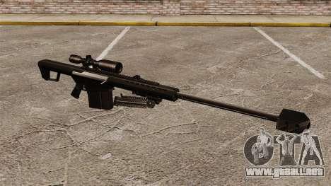 El francotirador Barrett M82 rifle v2 para GTA 4