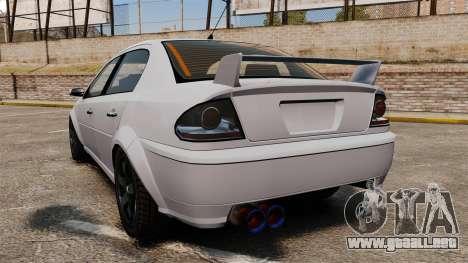 Templar el Premier versión para GTA 4 Vista posterior izquierda