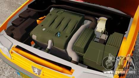 Peugeot 405 GLX Taxi para GTA 4 vista interior