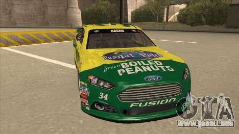 Ford Fusion NASCAR No. 34 Peanut Patch para GTA San Andreas left