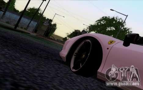 Ferrari 458 Italia Novitec Rosso Carbon para GTA San Andreas vista posterior izquierda