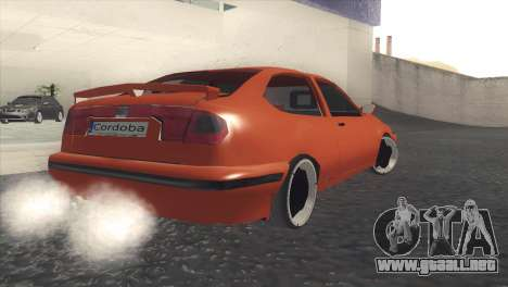 Seat Cordoba SX para GTA San Andreas vista posterior izquierda