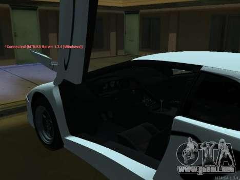 Lamborghini Diablo SV v2 para GTA San Andreas vista hacia atrás