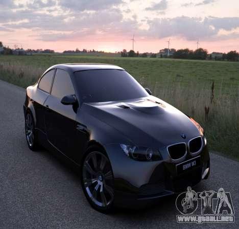 Pantalla de arranque de BMW para GTA 4 adelante de pantalla