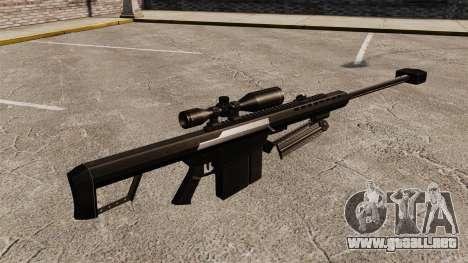 El francotirador Barrett M82 rifle v2 para GTA 4 segundos de pantalla