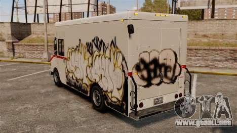 Nuevo graffiti de Boxville para GTA 4 Vista posterior izquierda