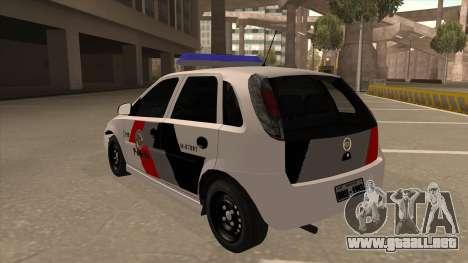 Chevrolet Corsa VHC PM-SP para GTA San Andreas vista hacia atrás