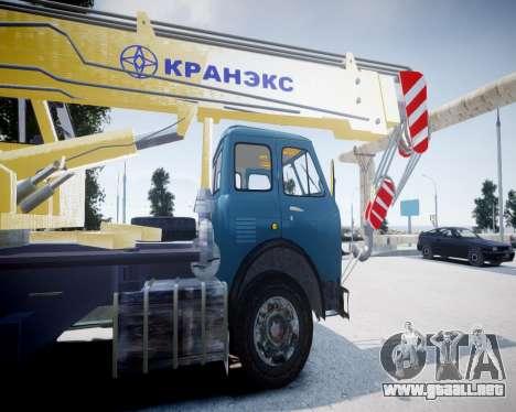 MAZ 500 KS3577-4-4 KRANEKS para GTA 4 Vista posterior izquierda