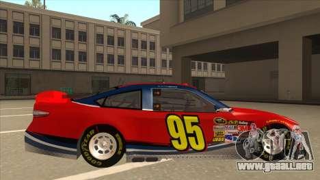 Ford Fusion NASCAR No. 95 para GTA San Andreas vista posterior izquierda