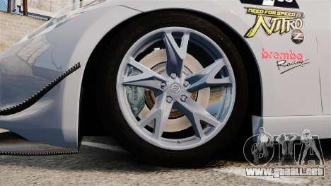 Nissan 370Z para GTA 4 vista hacia atrás