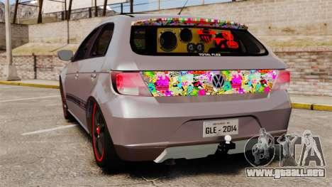 Volkswagen Gol Rally 2012 Socado Turbo para GTA 4 Vista posterior izquierda