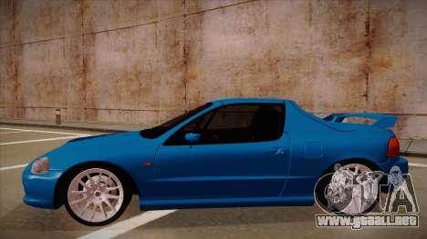 Honda CRX Del Sol para GTA San Andreas vista posterior izquierda