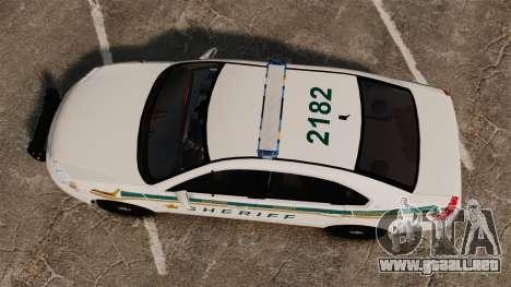 Chevrolet Impala BCSD 2010 [ELS] para GTA 4 visión correcta