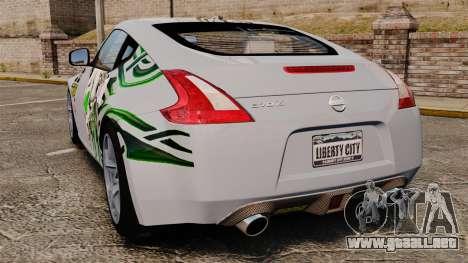 Nissan 370Z para GTA 4 Vista posterior izquierda