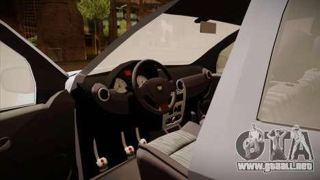 Dacia Duster Elite para visión interna GTA San Andreas